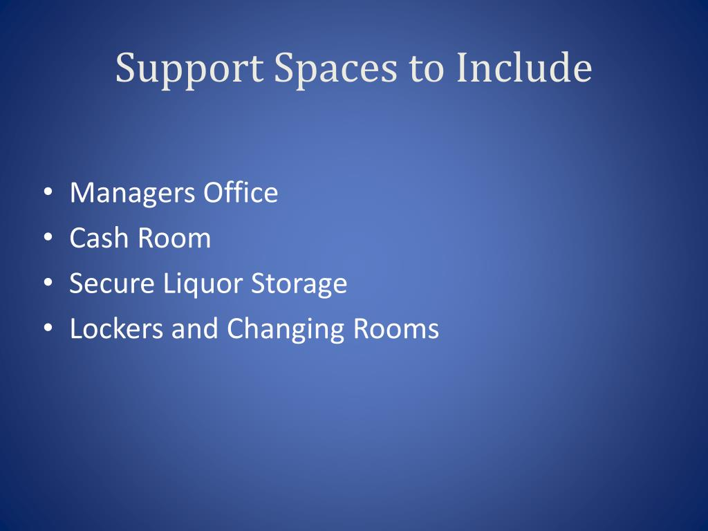 Support Spaces to Include