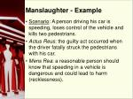 manslaughter example
