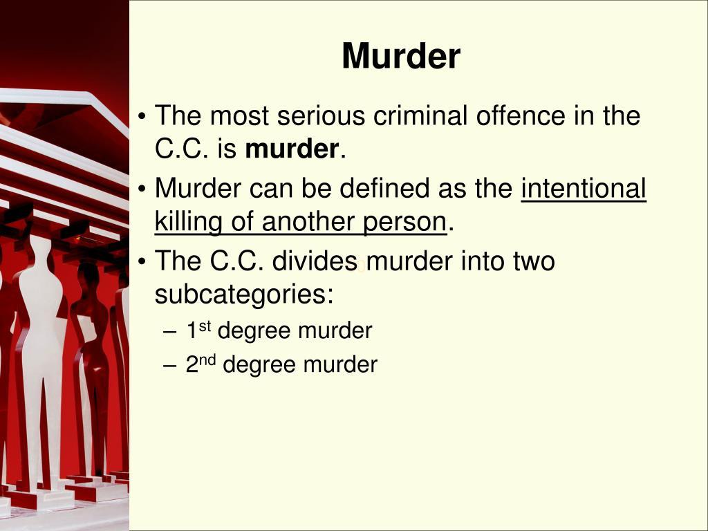 2nd degree murder essay
