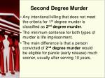 second degree murder