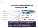 flowdown schwerpunkt for manufacturing