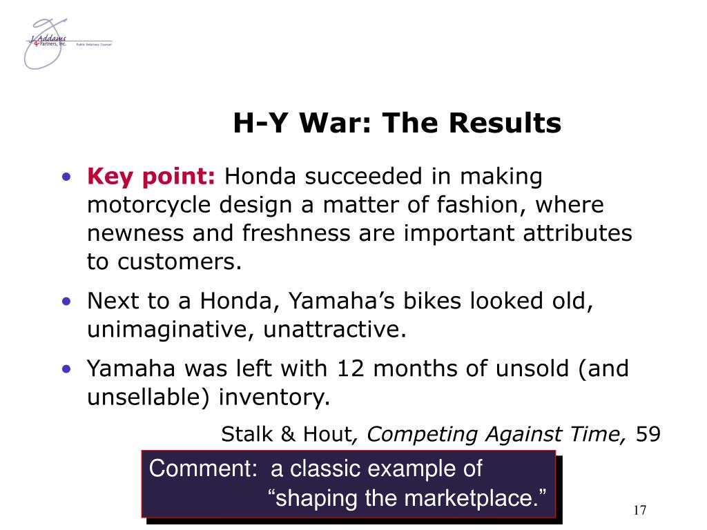 H-Y War: The Results