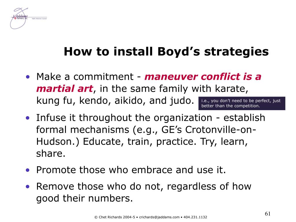 How to install Boyd's strategies