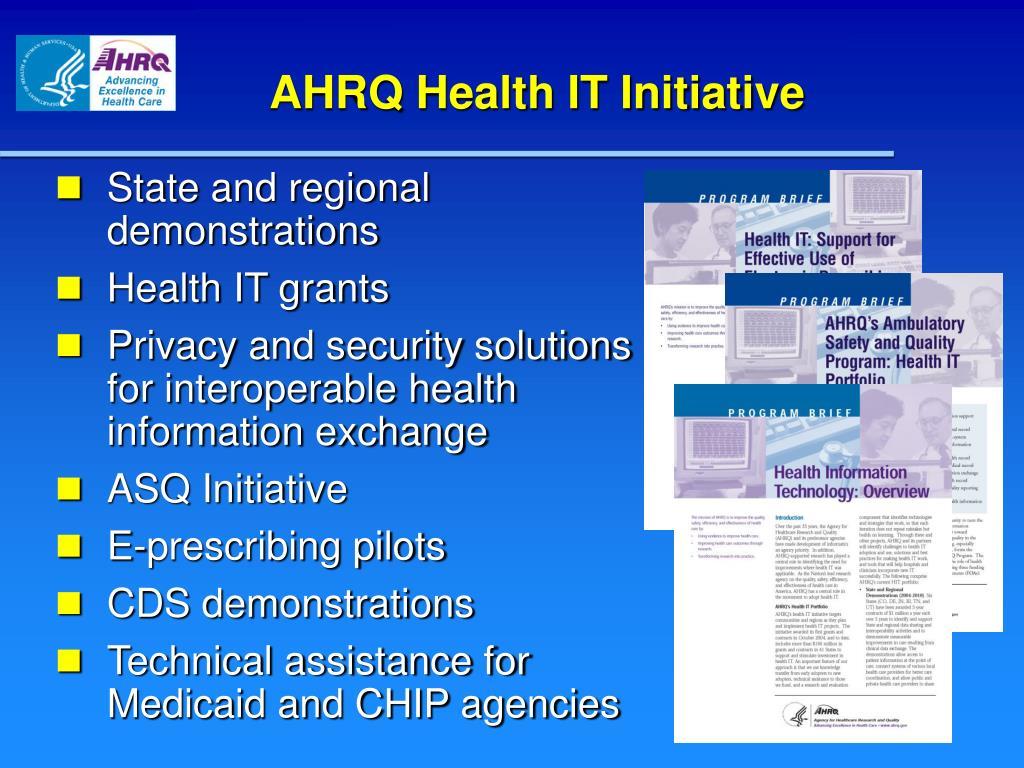 AHRQ Health IT Initiative