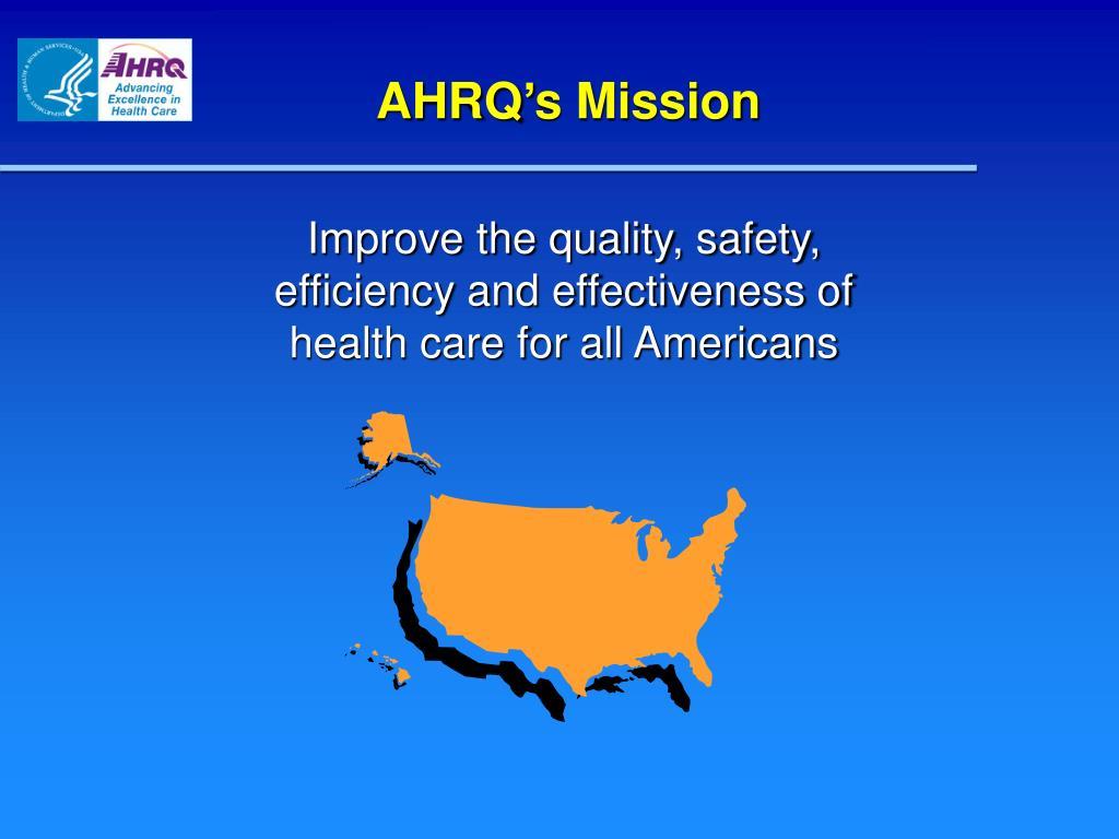 AHRQ's Mission