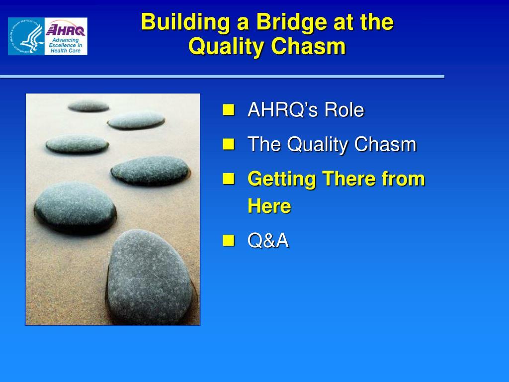 Building a Bridge at the