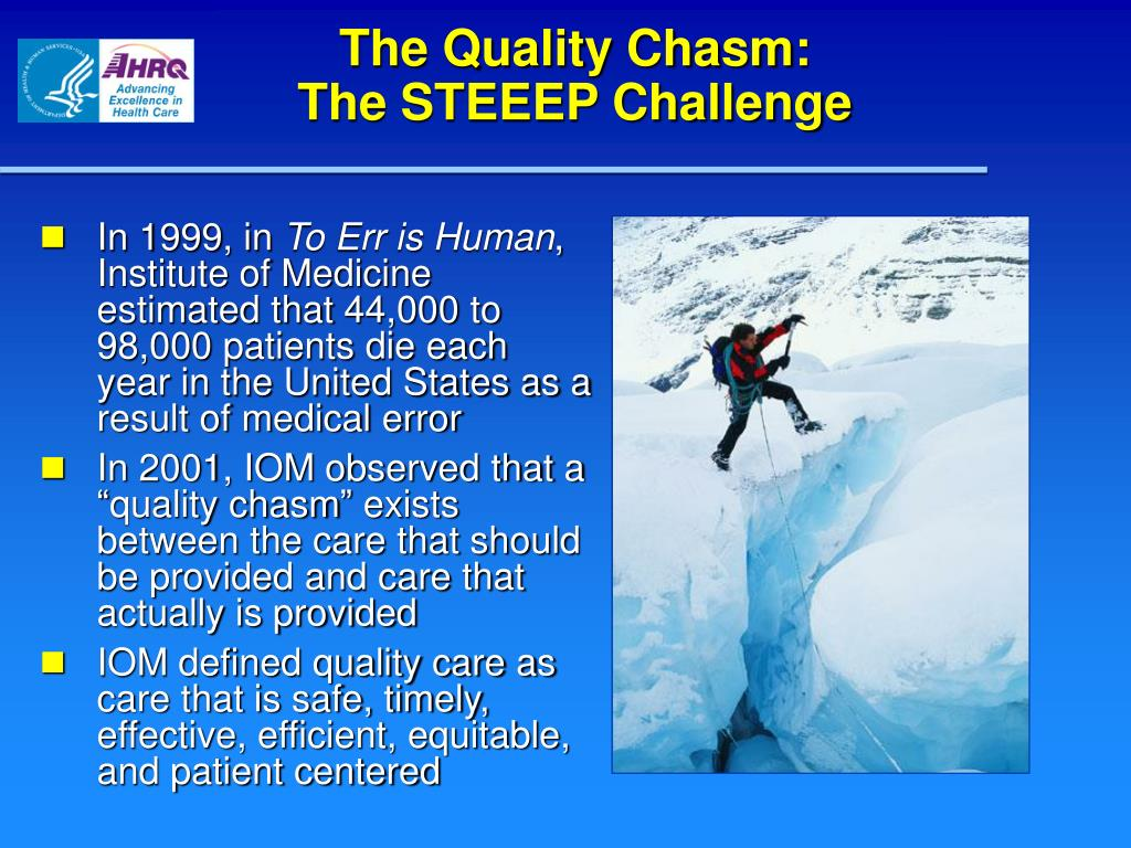 The Quality Chasm: