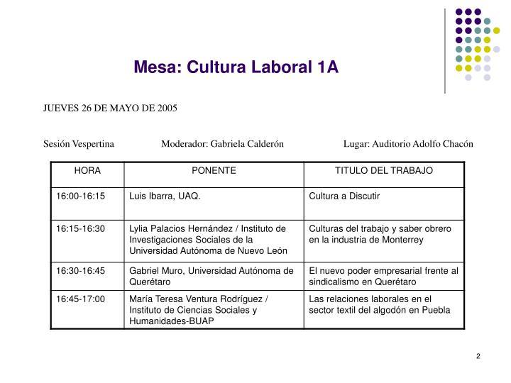 Mesa cultura laboral 1a