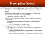 preemption games36