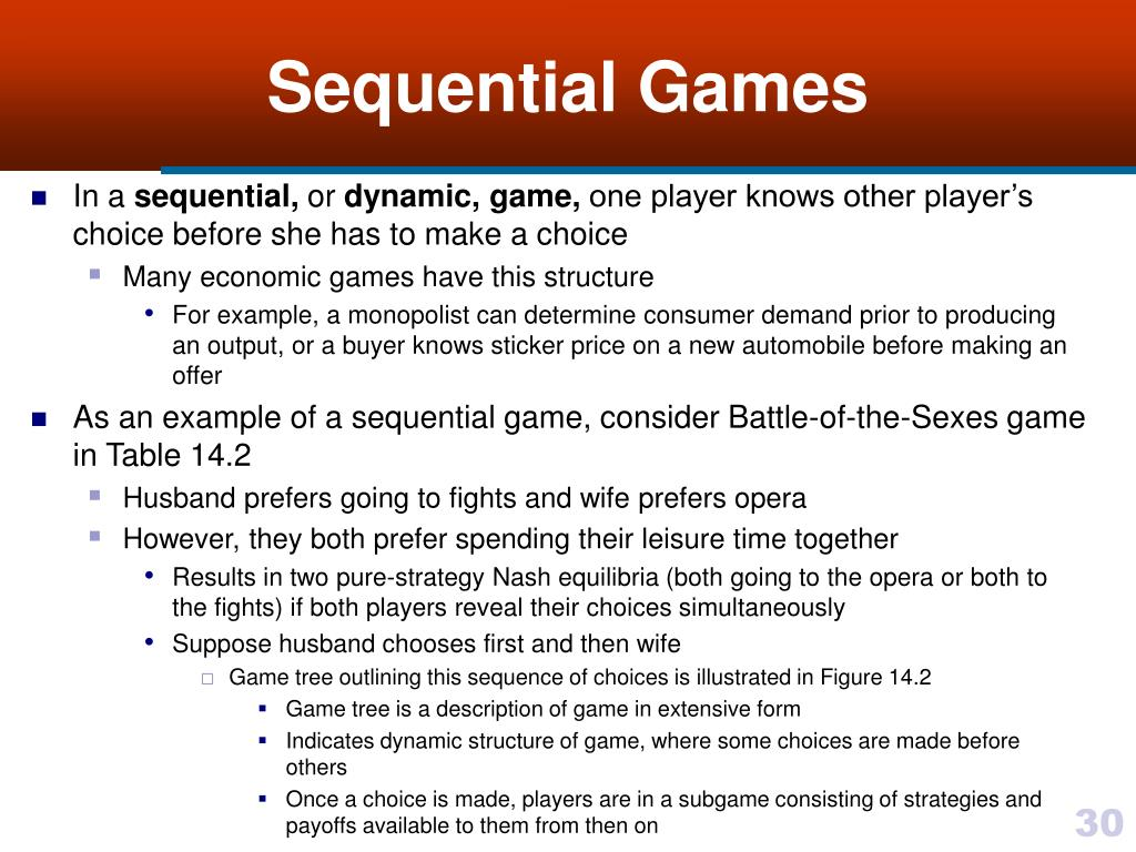 Sequential Games