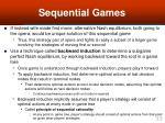 sequential games33