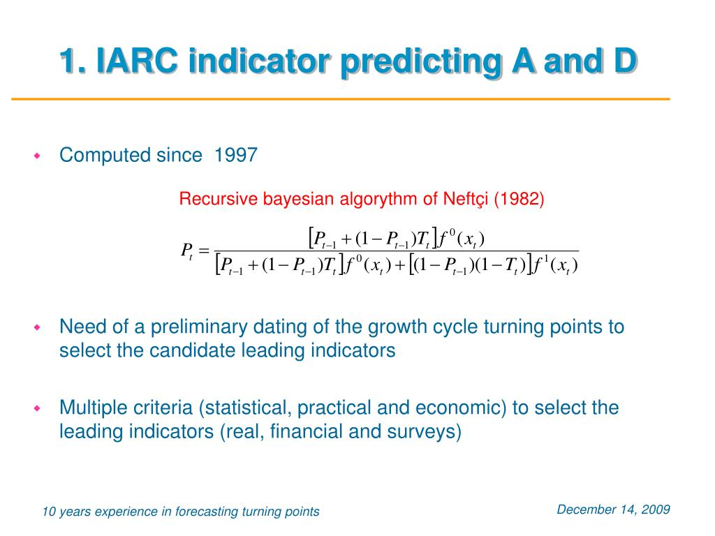 1. IARC indicator predicting A and D