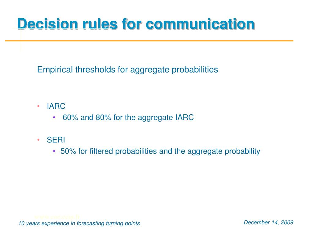 Decision rules for communication