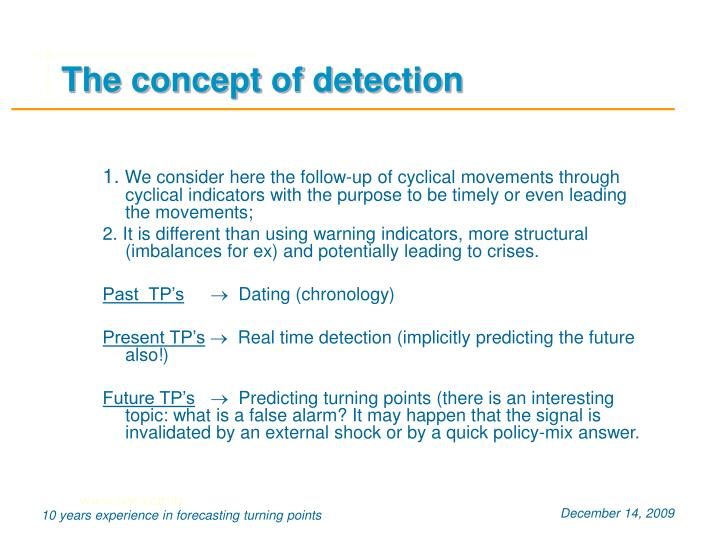 The concept of detection