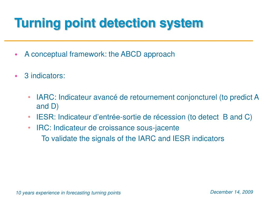 Turning point detection system
