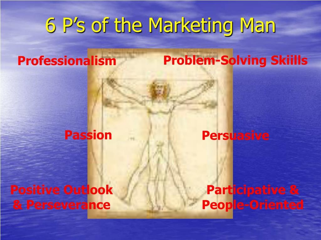 6 P's of the Marketing Man