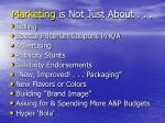 marketing is not just about