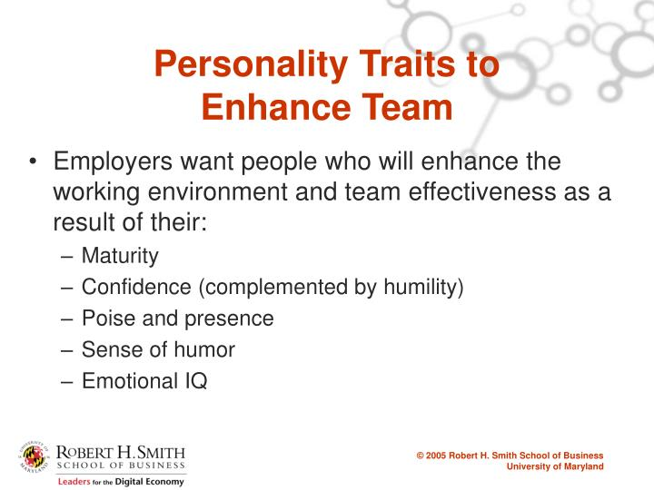 Personality Traits to