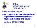 india strategic role of food health12