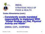 india strategic role of food health13