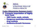 india strategic role of food health17