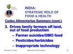 india strategic role of food health18