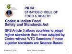 india strategic role of food health21