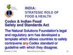 india strategic role of food health22