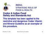 india strategic role of food health23