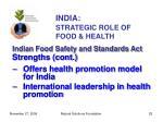 india strategic role of food health25