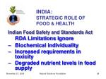 india strategic role of food health28