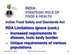 india strategic role of food health29