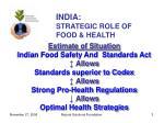 india strategic role of food health3