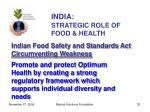 india strategic role of food health32