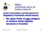 india strategic role of food health33