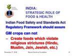 india strategic role of food health41
