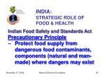 india strategic role of food health42