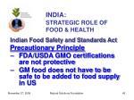 india strategic role of food health43