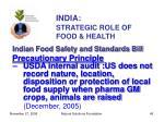 india strategic role of food health45
