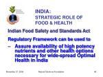 india strategic role of food health49