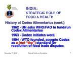india strategic role of food health7