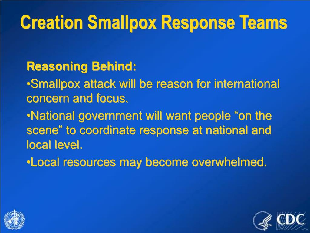 Creation Smallpox Response Teams