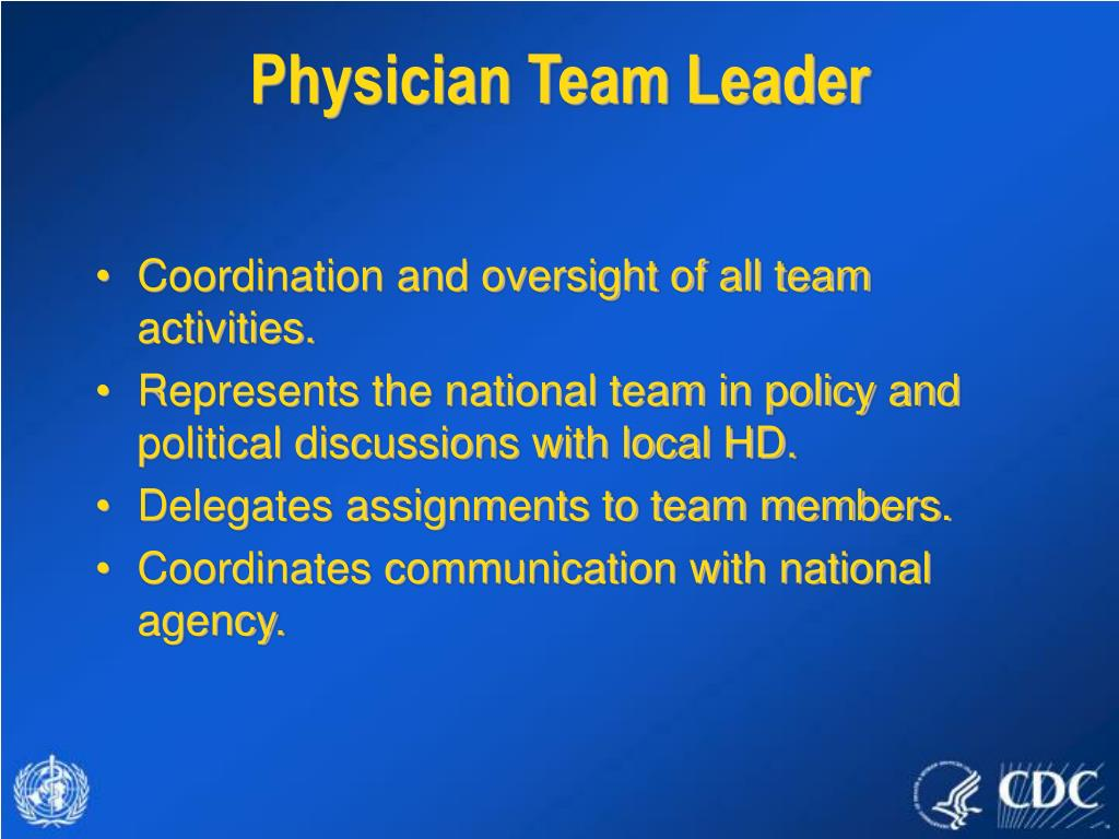 Physician Team Leader