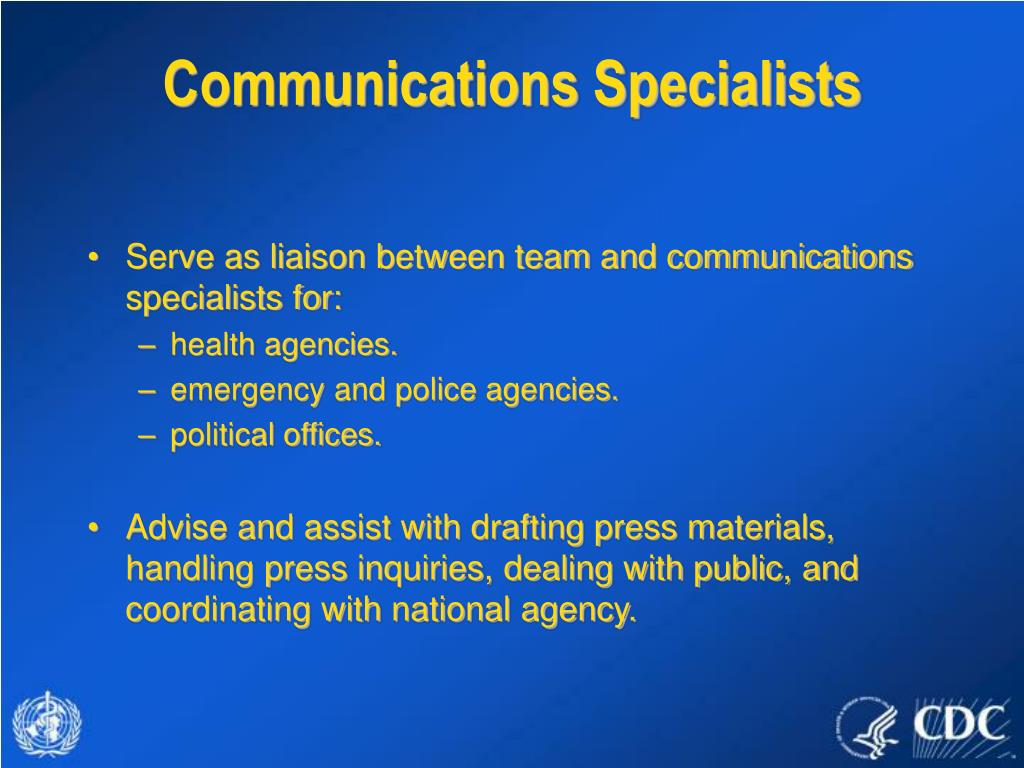 Communications Specialists