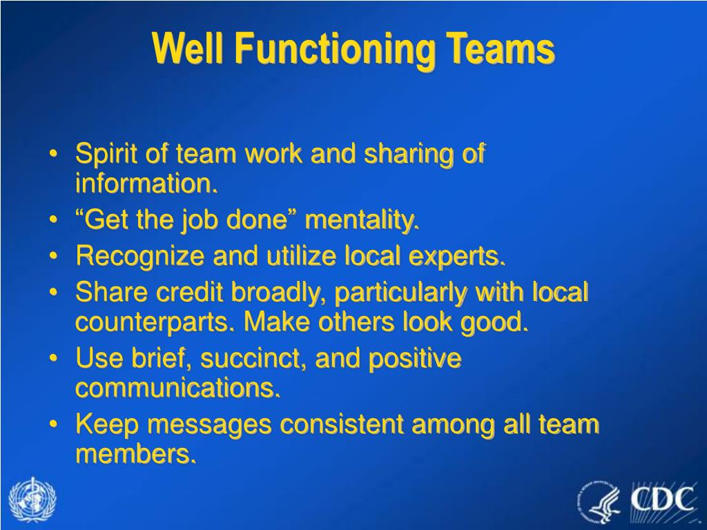 Well Functioning Teams