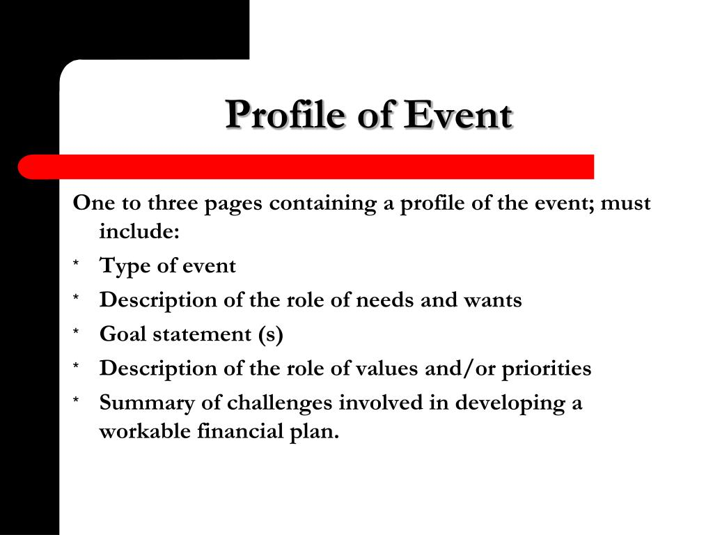 Profile of Event