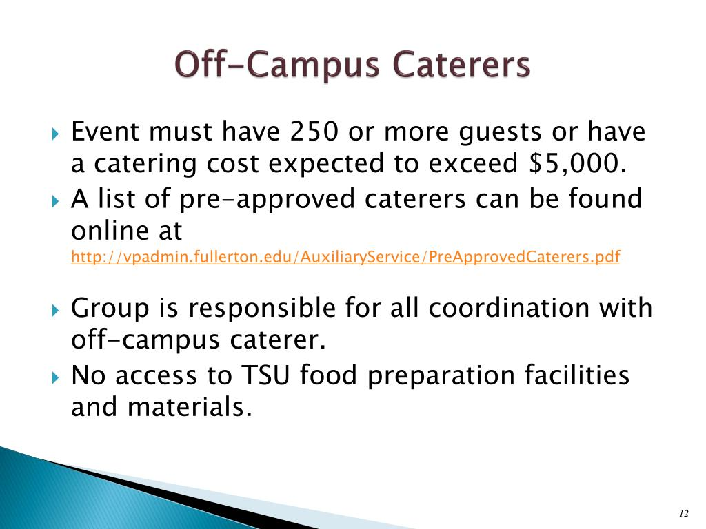 Off-Campus Caterers