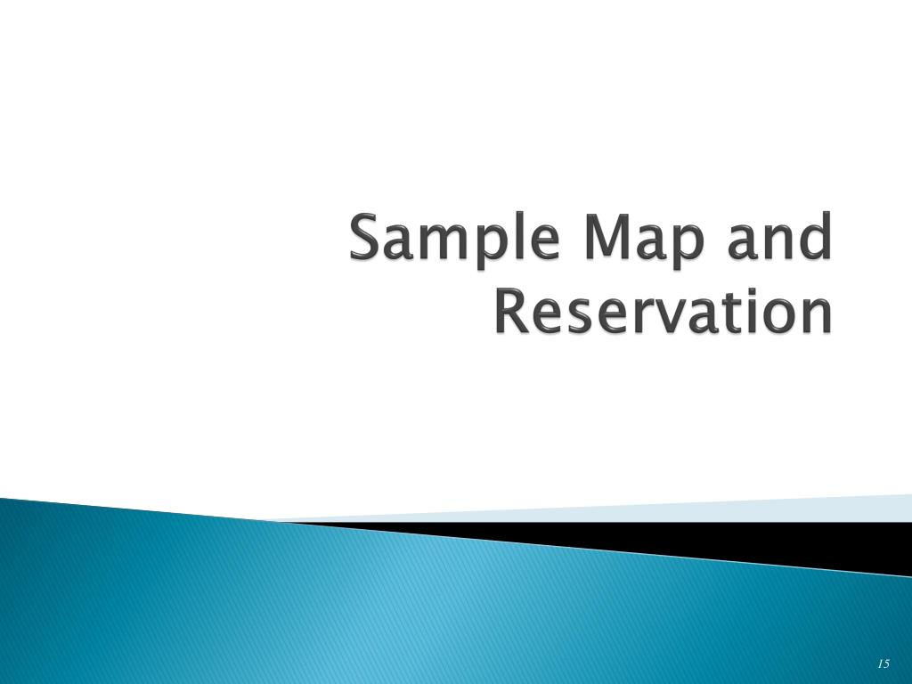 Sample Map and Reservation