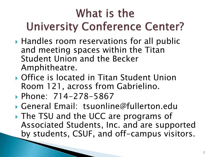 What is the university conference center