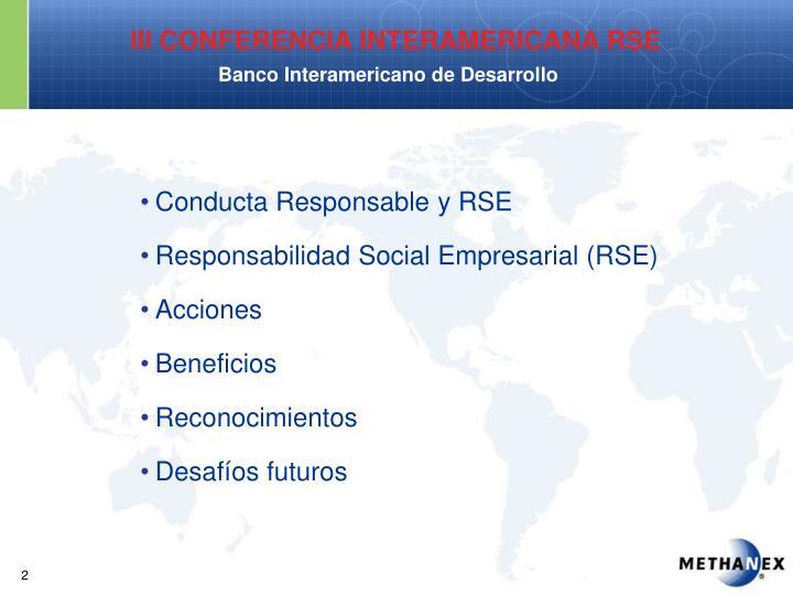 Conducta Responsable y RSE